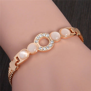 Rose Gold Plated Circle of Love Bracelet