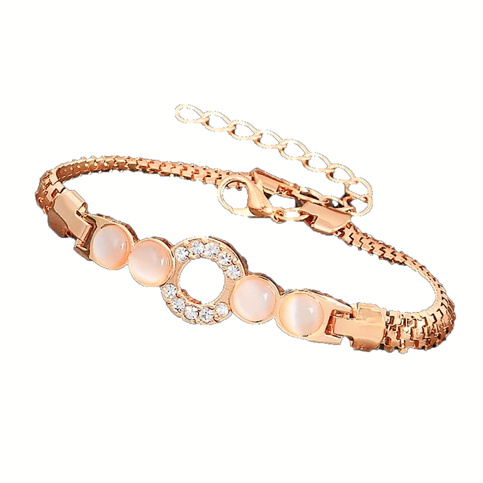 MADARI FASHIONS - Rose Gold Plated Circle of Love Bracelet