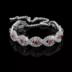 MADARI FASHIONS - Crystal Eternity Cuff Bangle Bracelet