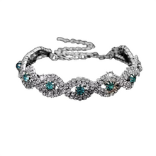 Load image into Gallery viewer, MADARI FASHIONS - Crystal Eternity Cuff Bangle Bracelet