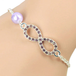 MADARI FASHIONS - Eternity Bracelet Accented with Fresh Water Pearl