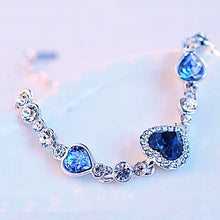 Load image into Gallery viewer, MADARI FASHIONS - Royal Heart Crystal Rhinestone Bracelet