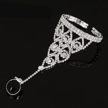 Load image into Gallery viewer, MADARI FASHIONS - Austrian Crystal Net Mesh Ring Bracelet