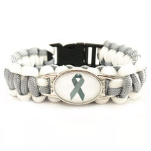 Load image into Gallery viewer, MADARI FASHIONS - Cancer Paracord Bracelet