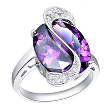Load image into Gallery viewer, MADARI FASHIONS - Stimulated Precious Ring accented with Austrian Crystals