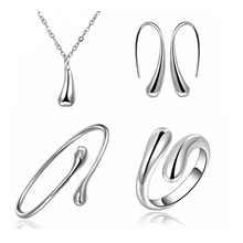 Load image into Gallery viewer, MADARI FASHIONS - Sterling Silver Tear Drop Set