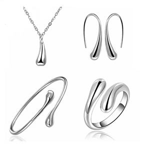 MADARI FASHIONS - Sterling Silver Tear Drop Set
