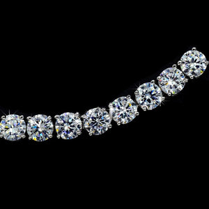 MADARI FASHIONS - Platinum Plated 16 Carat Simulated Diamond Tennis Bracelet