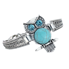 Load image into Gallery viewer, MADARI FASHIONS - Bohemian Turquoise Owl Bracelet