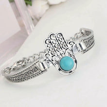Load image into Gallery viewer, MADARI FASHIONS - Bohemian Turquoise Hand Of Fátima Bracelet