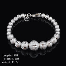 Load image into Gallery viewer, MADARI FASHIONS - Silver Bohemian Wave Ball Bracelet