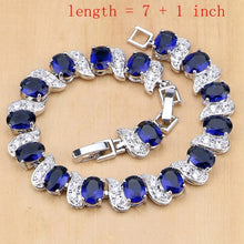 Load image into Gallery viewer, MADARI FASHIONS - Sterling Silver Sapphire Set