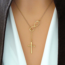 Load image into Gallery viewer, MADARI FASHIONS - Infinity Interlocking Cross Necklace