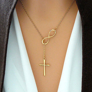 MADARI FASHIONS - Infinity Interlocking Cross Necklace
