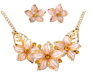 MADARI FASHIONS - Cloisonné Hawaiian Plumeria Flower Set