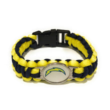 Load image into Gallery viewer, MADARI FASHIONS - Los Angeles NFL Paracord Bracelet