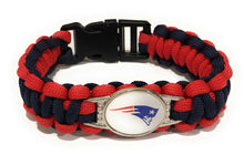 Load image into Gallery viewer, MADARI FASHIONS - New England NFL Paracord Bracelet