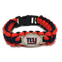 Load image into Gallery viewer, MADARI FASHIONS - Giants NFL Paracord Bracelet