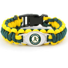 Load image into Gallery viewer, MADARI FASHIONS - Oakland MLB Paracord Bracelet
