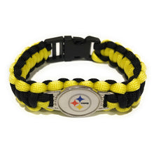Load image into Gallery viewer, MADARI FASHIONS - Pittsburgh NFL Paracord Bracelet