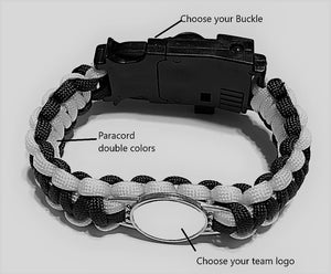 San Francisco MLB Paracord Bracelet