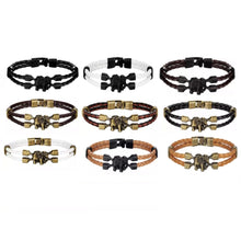 Load image into Gallery viewer, MADARI FASHIONS - Double Braided Faux Leather Elephant Bracelet