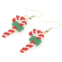 Load image into Gallery viewer, MADARI FASHIONS - Stainless Steel Candy Cane Earrings