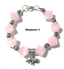 Load image into Gallery viewer, MADARI FASHIONS - Rose Quartz Elephant Bracelet