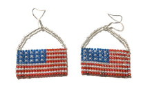 Load image into Gallery viewer, MADARI FASHIONS - 925 Sterling Silver USA Flag Basket Dangles