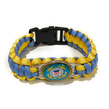 Load image into Gallery viewer, Coast Guard Style #1 Paracord Bracelet