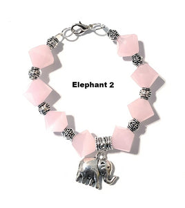 MADARI FASHIONS - Rose Quartz Elephant Bracelet