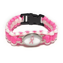 Load image into Gallery viewer, MADARI FASHIONS - Breast Cancer Paracord Bracelet