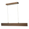 "Abra Lighting 32"" Cable Suspended LED Pendant with Up-Down Light 10095PN-BB"