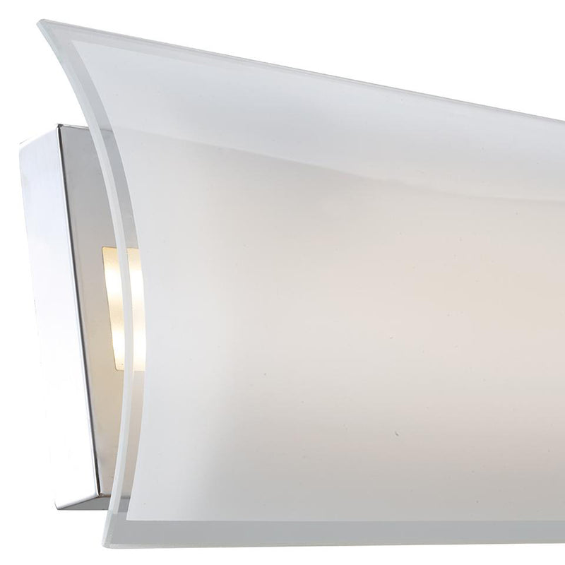 Abra Lighting Curved glass panel LED vanity 20011WV-CH