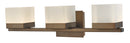 Abra Lighting 3 Light Vanity Square Edge Lite Dim LED Acrylic Shades 20023WV-BZ