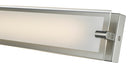 "Abra Lighting 29"" Vanity MBear Edged Frost Glass Panel HI-Out Dim LED 20027WV-BN"