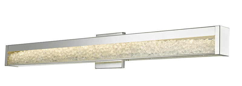 "Abra Lighting 36"" MBear Miter Glass Crystal Vanity HI-Output Dim LED 20031WV-CH"