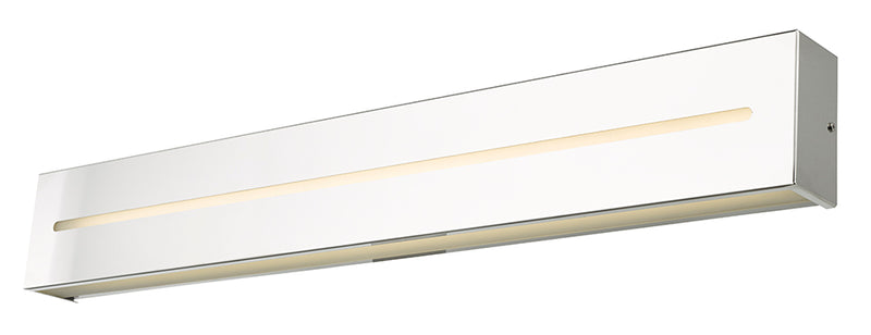 "Abra Lighting 32"" Metal Framed Frost Glass Vanity-Wall Hi-Out Dim LED 20068WV-CH"