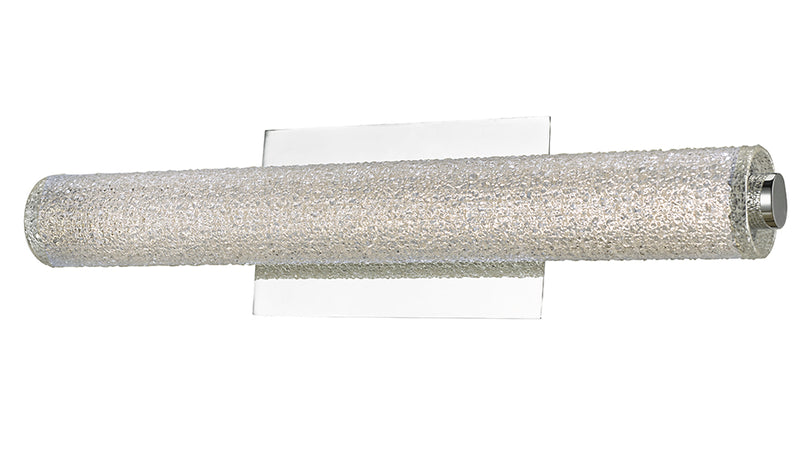 "Abra Lighting 20"" Hand Blown Diamond Glass Tube LED Vanity 20094WV-CH"