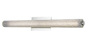 "Abra Lighting 31"" Hand Blown Diamond Glass Tube LED Vanity 20095WV-BN"