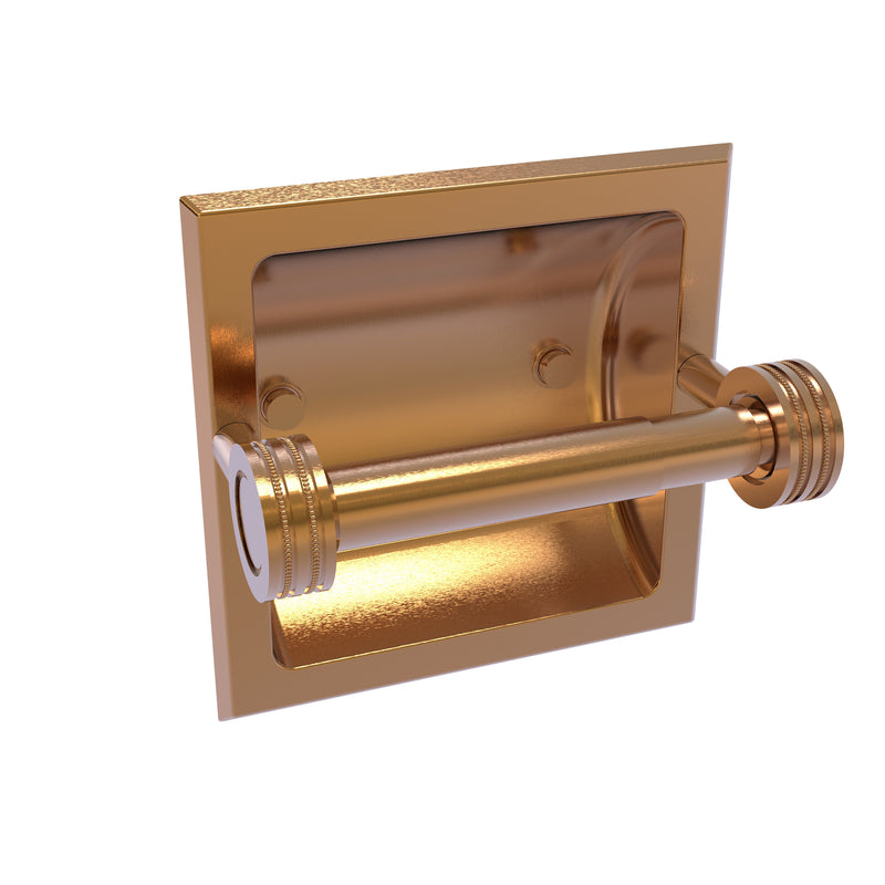 Allied Brass Continental Collection Recessed Toilet Tissue Holder with Dotted Accents 2024-CD-BBR