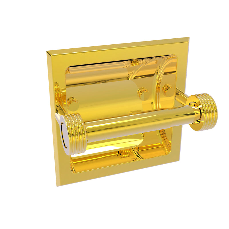 Allied Brass Continental Collection Recessed Toilet Tissue Holder with Groovy Accents 2024-CG-PB