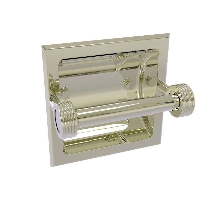 Allied Brass Continental Collection Recessed Toilet Tissue Holder with Groovy Accents 2024-CG-PNI