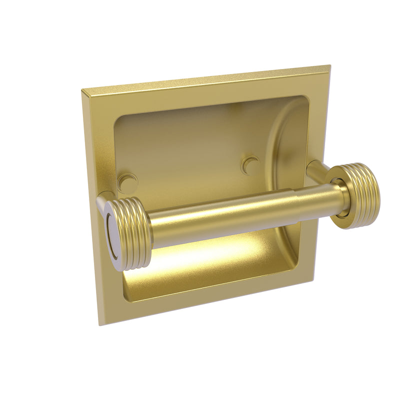 Allied Brass Continental Collection Recessed Toilet Tissue Holder with Groovy Accents 2024-CG-SBR