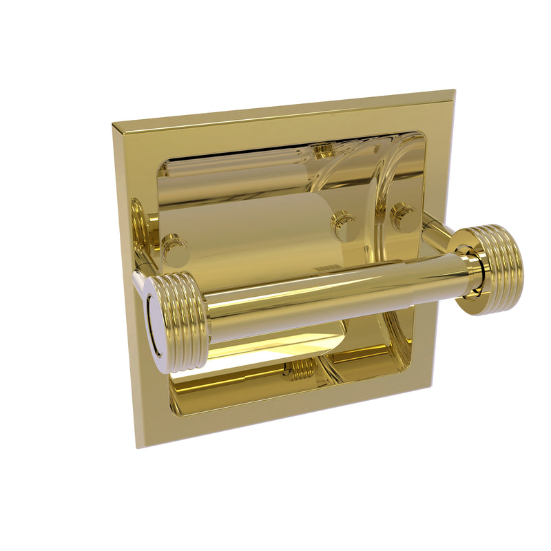 Allied Brass Continental Collection Recessed Toilet Tissue Holder with Groovy Accents 2024-CG-UNL