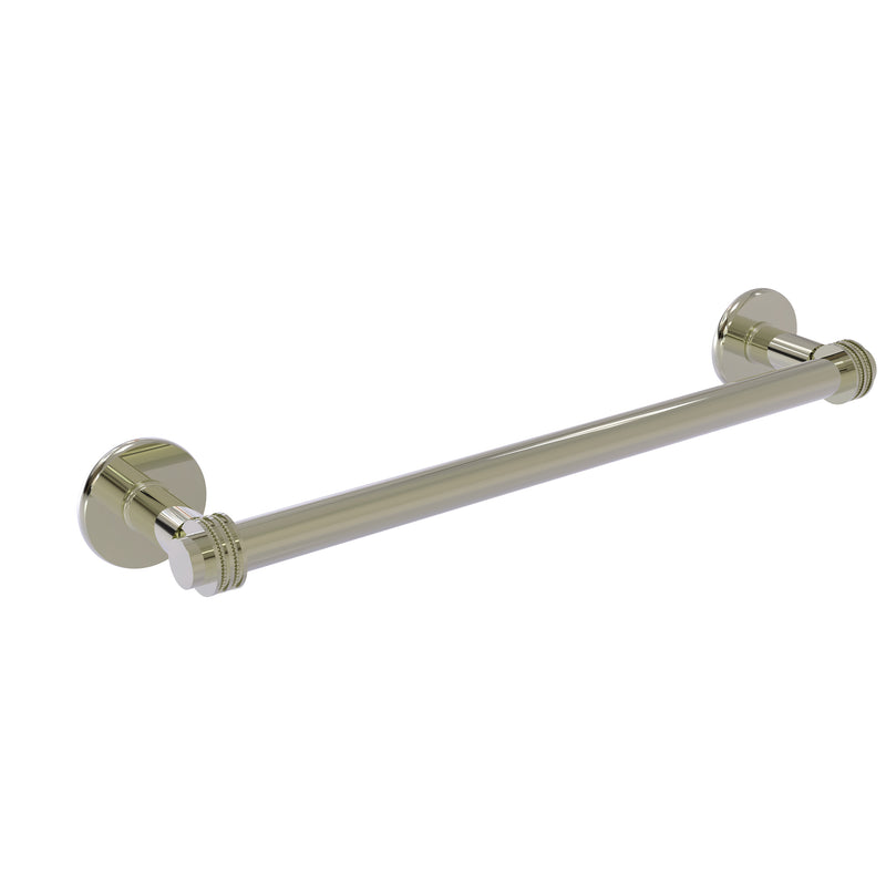 Allied Brass Continental Collection 18 Inch Towel Bar with Dotted Detail 2051D-18-PNI