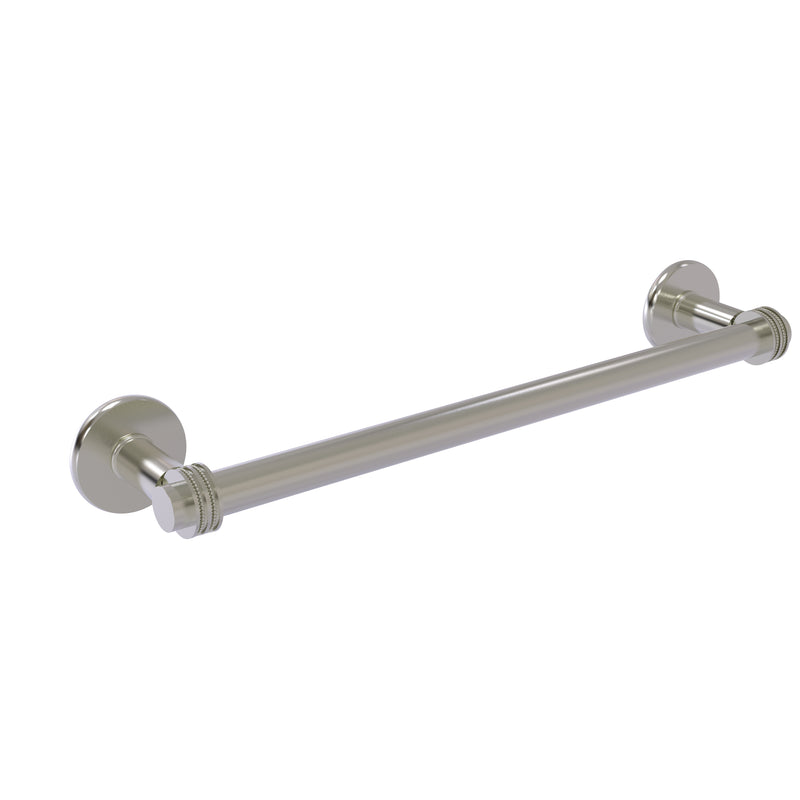 Allied Brass Continental Collection 18 Inch Towel Bar with Dotted Detail 2051D-18-SN