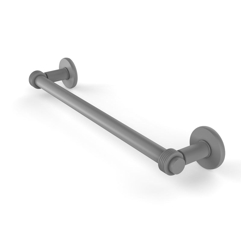 Allied Brass Continental Collection 18 Inch Towel Bar with Groovy Detail 2051G-18-GYM