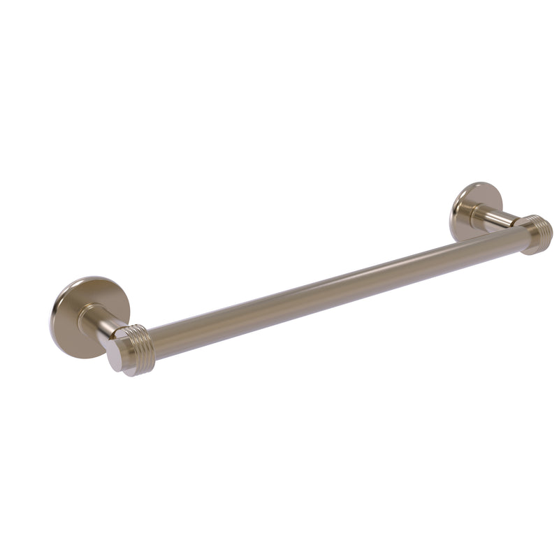 Allied Brass Continental Collection 18 Inch Towel Bar with Groovy Detail 2051G-18-PEW