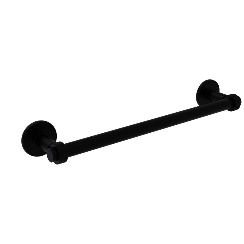 Allied Brass Continental Collection 30 Inch Towel Bar with Groovy Detail 2051G-30-BKM